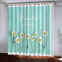 green curtains photo Blackout Window Drapes Luxury 3D Curtains For Living room Bed room Office Hotel Home fresh flower curtains beige polyester flannel europe embroidered blackout curtains for living room bedroom window tulle curtains home hotel villa