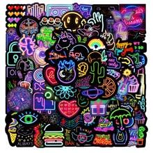 10/30/50pcs Funny Neon Light Stickers Pack Laptop Suitcase Graffiti Skateboard Fridge Cute Cartoon Stickers Anime Decals Gift