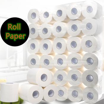 Papier do kąpieli w domu papier toaletowy papier 5 paczek 4Ply ręczniki papierowe papier tissus biały papier toaletowy papier zwijany papier toaletowy tanie i dobre opinie Plukotelu 3 ply Roll paper Virgin wood pulp YZS897 Toilet Paper Removable wet wipes white towel rolls paper towels pack towel