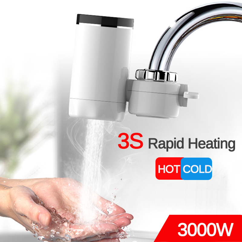 3000W Electric Instant Water Heater Tap Digital Instantaneous Hot Water Faucet Tankless Cold Heating Bathroom Kitchen Taps 220V