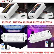 Fut035 fut036 fut037 fut038 fut039 miboxer (novo) 2.4g 4-zone led controlador dimmer única cor cct rgb rgbw rgb + cct tira