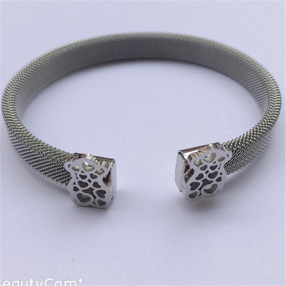 bear Bangle bracelet Mesh Bracelet Stainless Steel bangle jewelry as best gift free ship