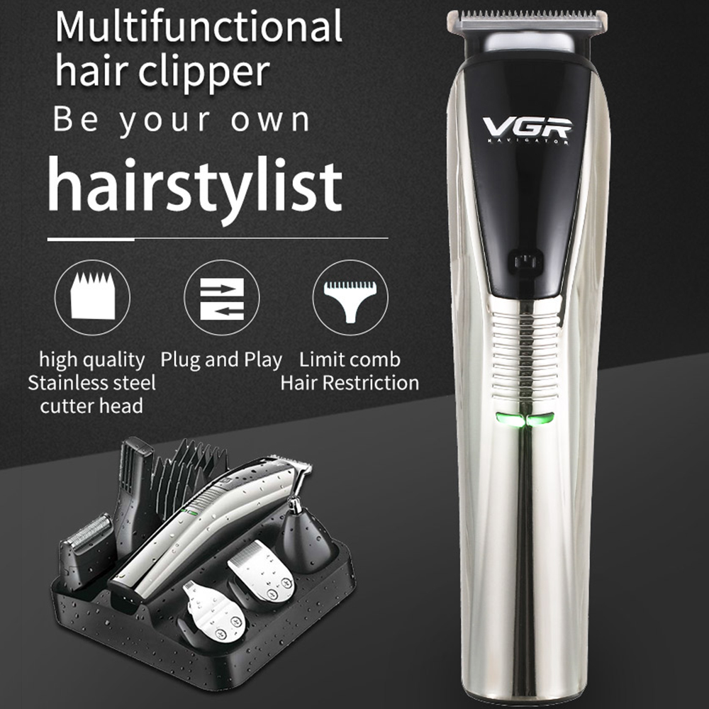 Beard Trimmer Men Hair Clippers 6 In 1 Hair Trimmer Pro Haircut Kit Cordless USB Charging Rechargeable Waterproof Low Noise