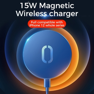 Image 1 - New 15W ultra thin Magnetic Suction Wireless Charger For  iPhone 12 12 Pro Max Fast Wireless Charging For  iPhone 12 Mini Phone