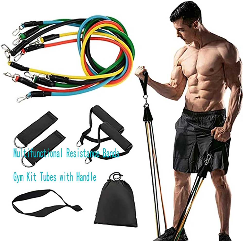 Fitness Resistance Bands Gym Tubes with Handle Exercise Pull Workout bands Rope Set Training Fitness Tubes Elastic Pull Rope