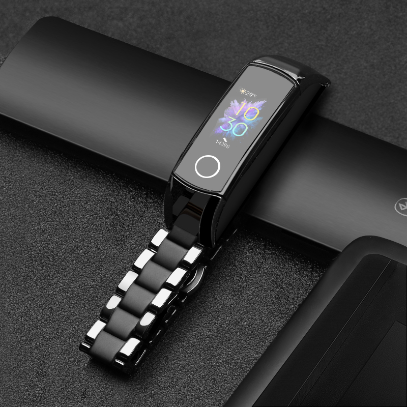 Ceramic Bracelet For Honor Band 5 4 Replacement Strap Adjustable Size For Huawei Honor Band 4 Quick Release Honor Band 5 Strap