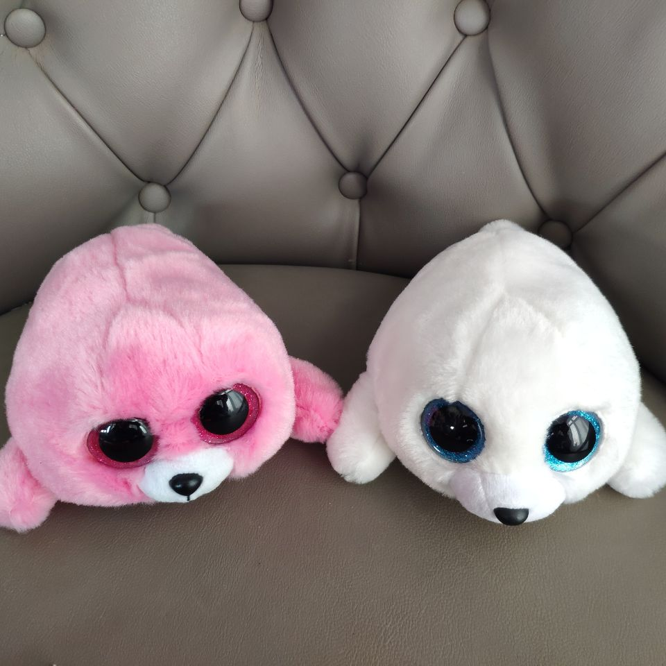 Icy White Red Pierre Seal 15CM Big Eyes Plush Toys Stuffed Animals Christmas Gift Kids Soft Toys