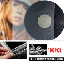 100 шт 12 дюймов внешняя виниловая пластмассовая Защитная пленка для записей, прозрачная крышка для контейнера LP, защита от отпечатков пальце...