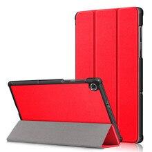 Magnetische Fall Für Lenovo Tab E10 10,1 Tablet Abdeckung Funda E10 TB-X104F TB X104F TB-X104L Slim Gefaltet PU Leder Stand shell + Glas