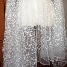 5 Yards /lot Soft Off White Glitte Dot Lace Tulle , Bridal Veil Wedding Gown Hem Bodice Lace Sewing Craft Fabric 150cm wide