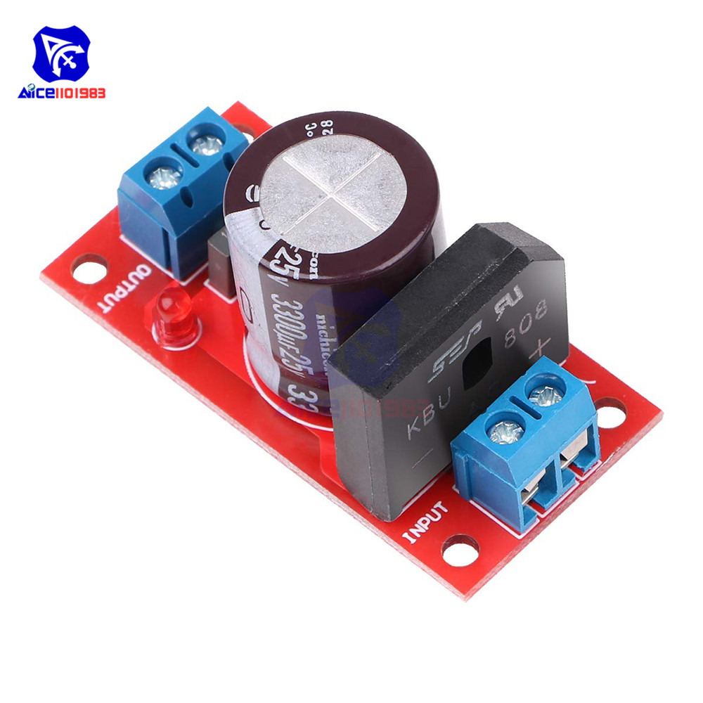 Rectifier Filter Power Supply Board 3A/8A Rectifier With LED Indicator AC To DC Transformer AC To DC Single Power Supply Board