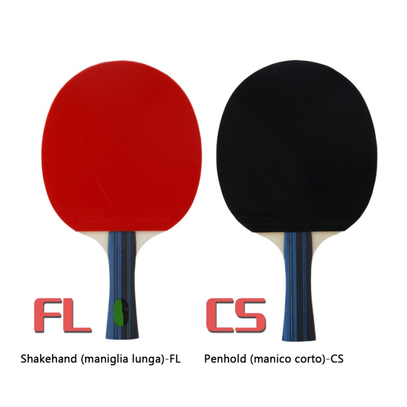 Professional Carbon Fiber Table Tennis Racket Blade With Double Face Pimples-in Ping Pong Racket Rubber With Original Bag