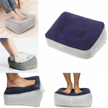 2019 New Inflatable Foot Rest Pillow Cushion Air Travel Office Home Leg Up Footrest Relax Plane Car Adult Kids Pad