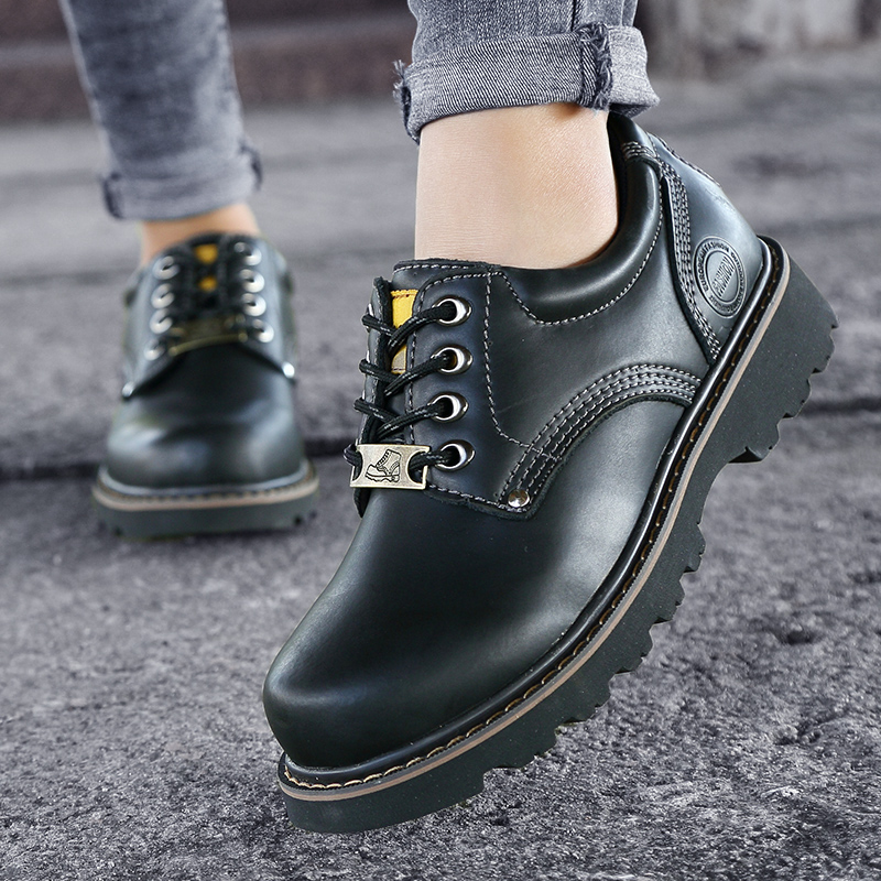 High Quality Men Casual Shoes New Genuine Leather Flat Shoes Men Outdoor Breathable Oxford Fashion Lace Up Men's Shoes