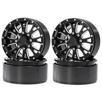 4Pcs 2.2 Inch Metal Beadlock Wheels Rims for 1/10 Axial Wraith TRX4 KM2 SCX10 90046 RC Car Crawler yfan 4pcs d1rc 1 8 super grip rc crawler 3 2 inch rc thick wheel tires with sponge for 1 8 rc crawler and 1 10 axial km2 wraith