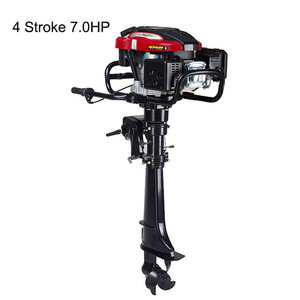Image 1 - 4 Stroke 4HP 6HP 7HP Outboard motor Boat Engine Boat Motor Air Cooling System Hand start Motor High Quality