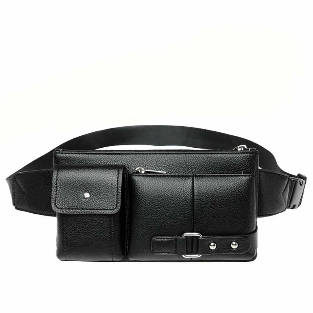 Hombres Retro multifunción bolsillos deportes al aire libre ocio mensajero bolsa de pecho diseñadores Dropshipping para mujeres Cruz cuerpo #40