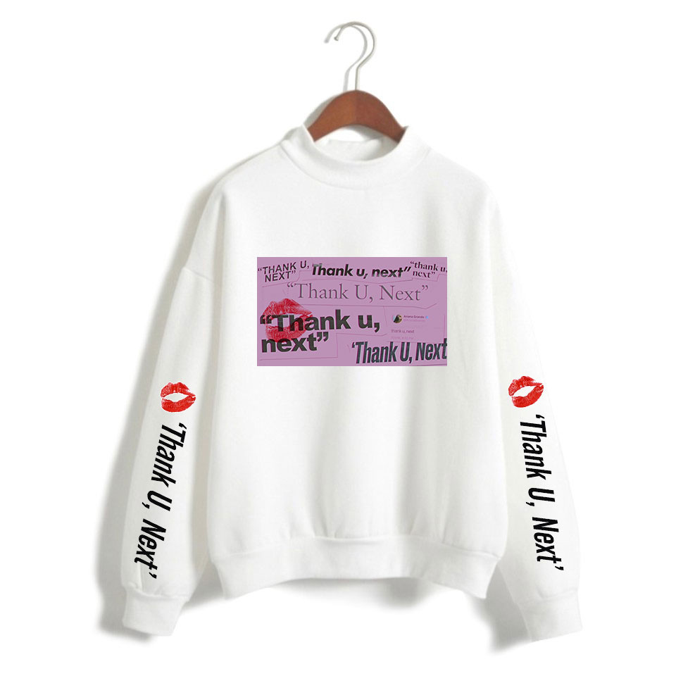 New Ariana Grande Sweat Femme Hoodie Oversized Sweatshirt For Women Lady Long Sleeve Print Jumper Black Pullover Top Blouse 4XL