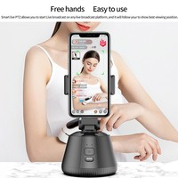 Bluetooth Smart Auto Face Tracking Gimbal ricaricabile oggetto Tracking Camera riconoscimento AI Smartphone PTZ per trasmissione in diretta