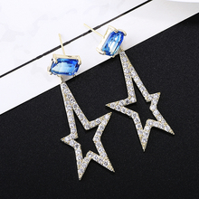 VERY GIRL Irregular Star Earrings Fashion Tourmaline Cubic Zirconia CZ for Women 2019 New Trendy Jewelry