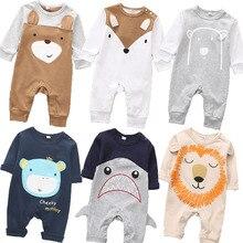 Boys Romper Underwear Animals Spring Baby Long-Sleeve Newborn-Baby Baby-Girls Cotton