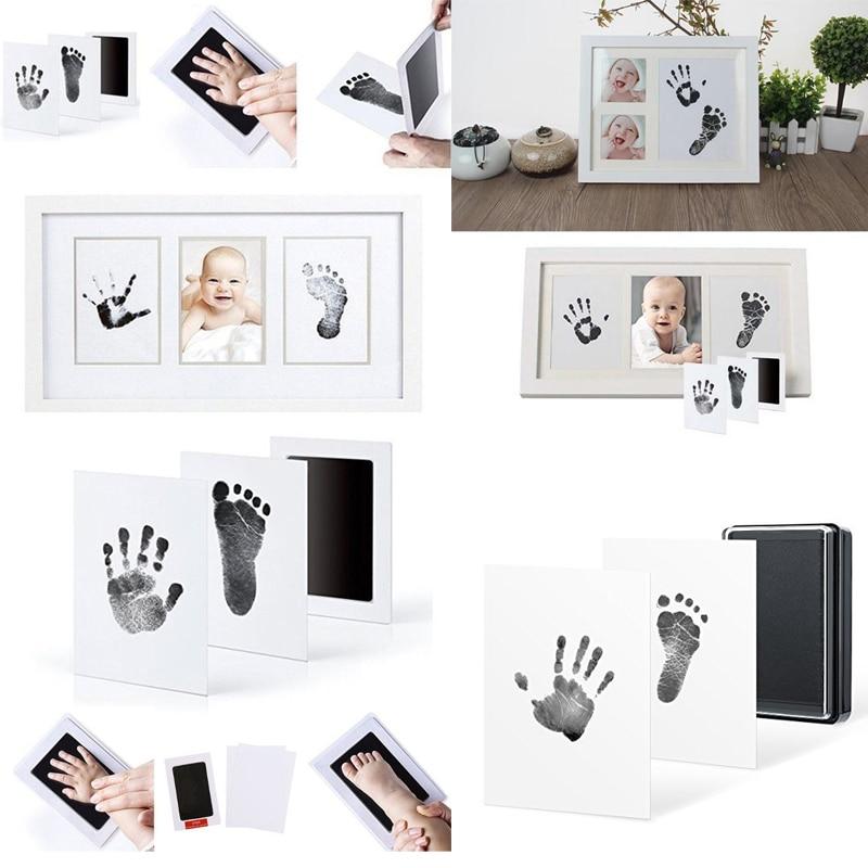 Inkless Wipe Baby Kit Hand Foot Print Keepsake Footprint Maker Newborn Footprint Handprint Makers