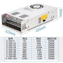 Fuente de alimentación conmutada MW, 350W, NES/LRS/S-350-24V14.6A /5V, 60a/12V, 30A, 36V48V CC para piezas de motor cnc