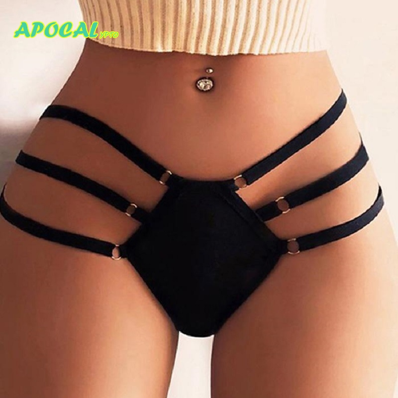 APOCAL Sexy Bandage Lace up G-string Strap Women's   Panties   Girl High Waist thong Brief Lingerie Knicker Female Underwear Women