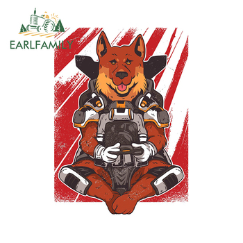 EARLFAMILY 13cm x 9.3cm For German Shepard Apex Gaming Car Stickers Vinyl Material Decal Car Door Protector Occlusion Scratch image