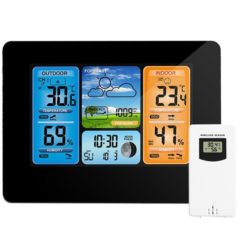 Новинка-цифровой термометр для метеостанции, гигрометр, барометр, беспроводной и сенсорный ЖК-монитор, прогноз погоды в помещении и на улиц...
