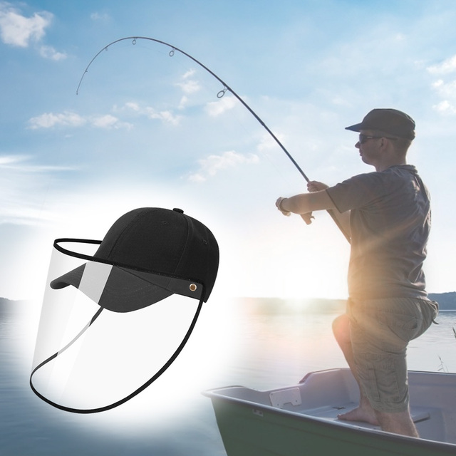 Detachable Transparent Face Shield Full Face Protection Baseball Hat  Visor Anti-saliva Unisex Cap Dropshipping 3
