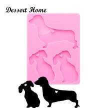 Dy0167 смолы силиконовая собачья семья пресс формы для эпоксидной