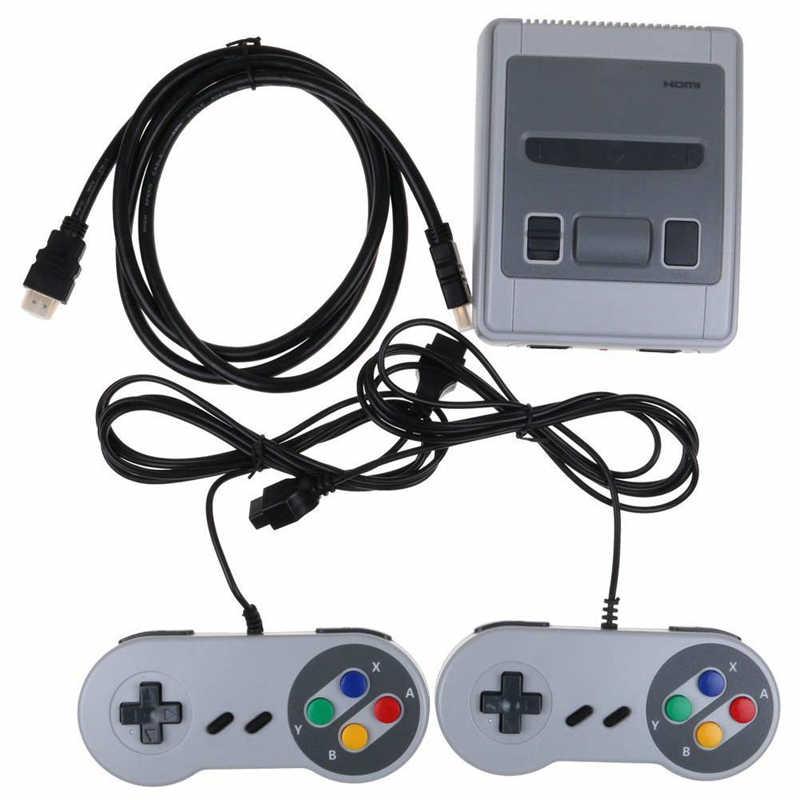 جهاز تحكم ألعاب تلفاز صغير ريترو 8Bit مدمج 621 ألعاب كلاسيكية HDMI وحدة تحكم ألعاب كلاسيكية مع جهاز تحكم في الألعاب بتوصيل أوروبي ومشغل ألعاب محمول باليد