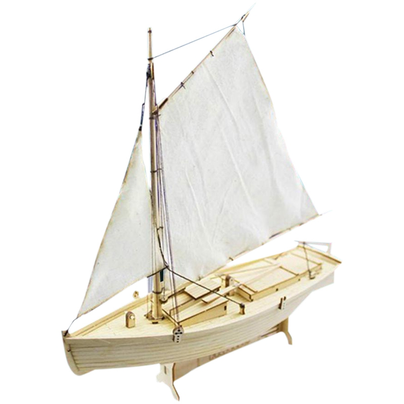 Diy 130 montagem kits de construção navio modelo de madeira veleiro brinquedos barco à vela molde crianças presentes aniversário