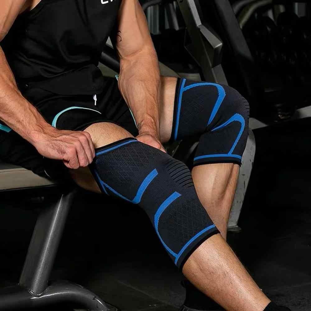 Fitness koszykówka kolarstwo ochraniacze na kolana rękaw zapalenie stawów elastyczny Nylon sport Kneepad wsparcie tenis wsparcie kolana szelki Voleyball