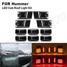 10x fumado lente amarelo vermelho led kit de telhado de táxi marcador superior luzes running para hummer h2 2003 2009 hummer h2 sut 2005 2009