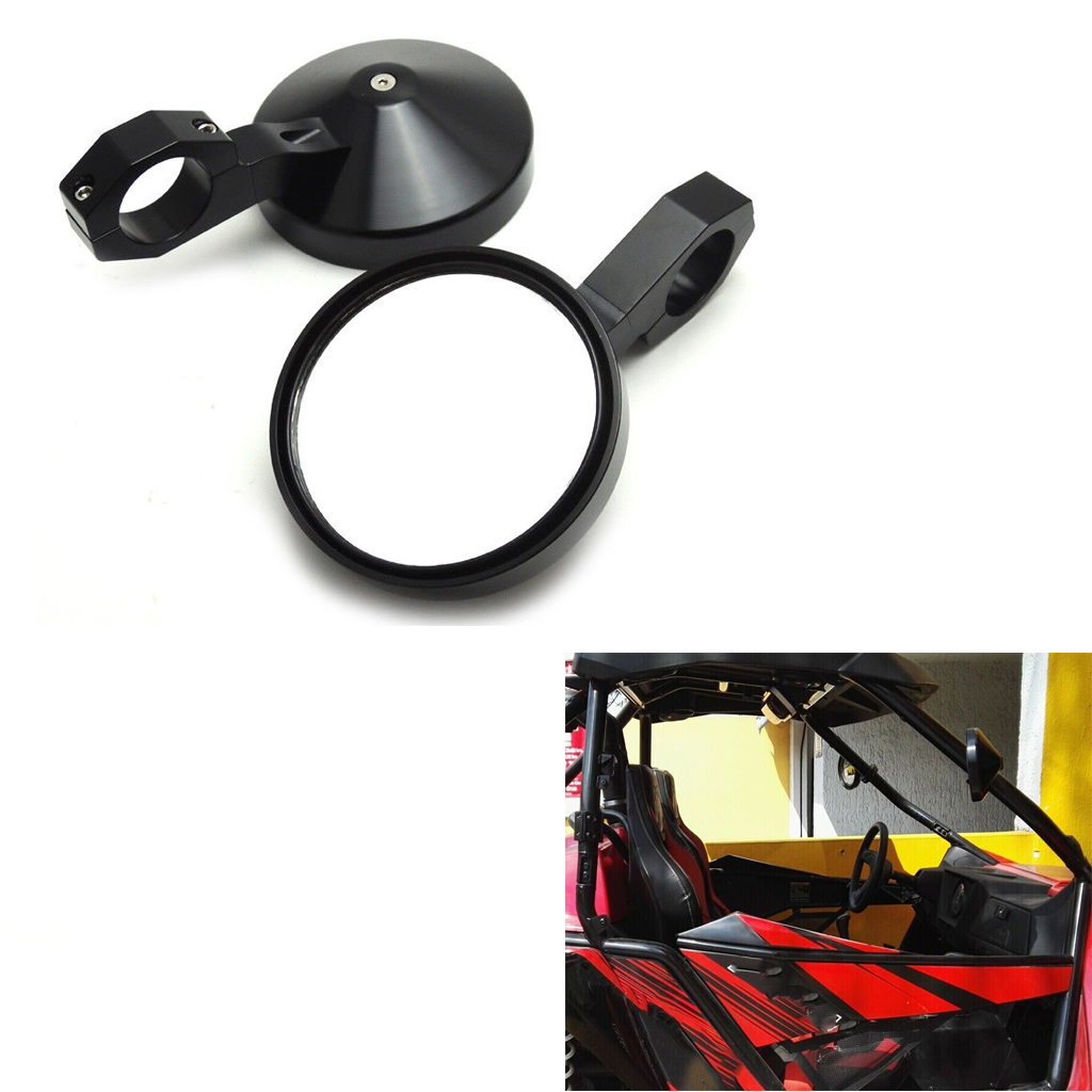 Rear View Mirror UTV Wide View Mirror Adjustable 1.75inch Heavy Duty Round Side Mirror For Polaris RZR Ranger XP 4 1000