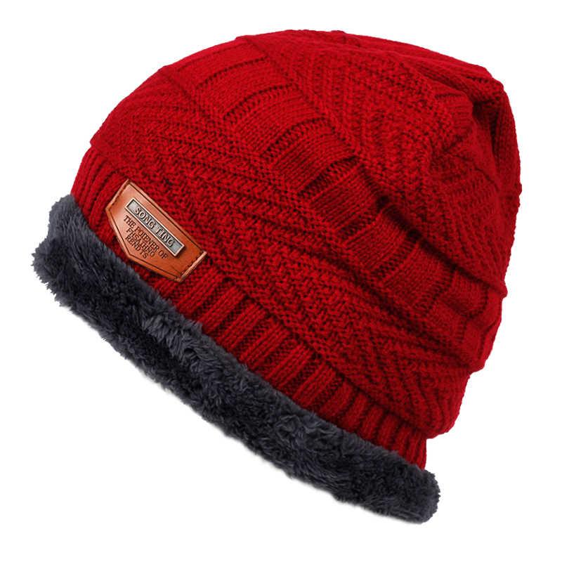 Nieuwe fashion muts plus fluwelen dikke warme hoeden herfst en winter mode hiphop outdoor wol caps middelbare leeftijd universele cap