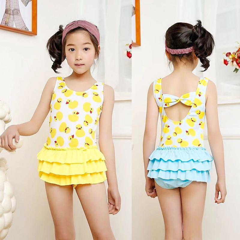 South Korea KID'S Swimwear Women's Girls Princess Cute Hot Springs Small CHILDREN'S GIRL'S Split Skirt-GIRL'S Swimsuit 3-6-Year-