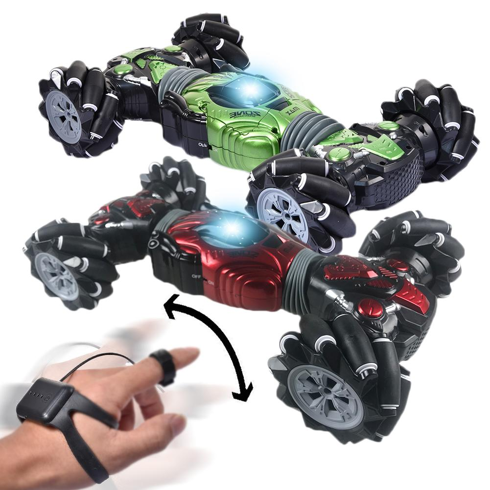 Remote Control Car Rechargeable Gesture Sensing Side Driving Twisting Drift Stunt Car Off-road Vehicle With Watch Control