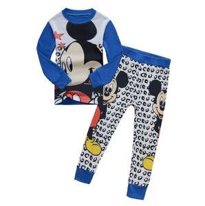2019 Kids boy girls clothing pajamas set 100% Cotton Children Sleepwear 2 Pieces Cartoon Tops +Pants Toddler Kid Clothes Pyjamas(China)
