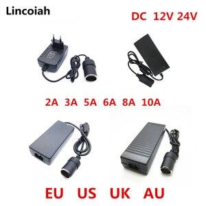 Image 1 - רכב מצית AC מתאם 110V 220V כדי 12 V 5A 6A 8A 10A כוח מתאם ממיר מהפך DC T שנאי מצית 12 וולט