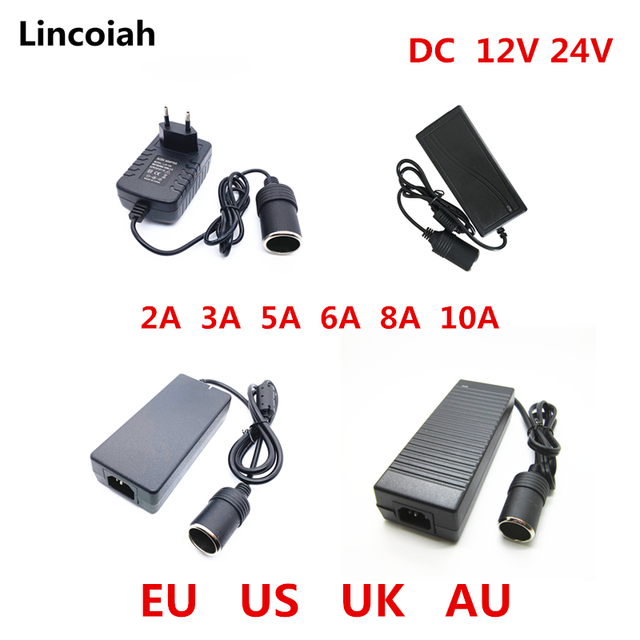 רכב מצית AC מתאם 110V 220V כדי 12 V 5A 6A 8A 10A כוח מתאם ממיר מהפך DC T שנאי מצית 12 וולט
