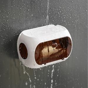 Image 5 - Bathroom tissue box Free punch paper towel holder Paper finishing rack phone stand Portable toilet tray Bathroom shelf
