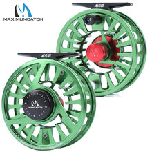 Maximumcatch carretel de pesca avid 1-9wt, usinado em alumínio, micro ajuste, leve, carretel de pesca com mosca e carretel