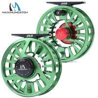 Maximumcatch AVID 1 9WT Machined Aluminium Fly Reel Micro Adjusting Drag Light Weight Fly Fishing Reel and Spool|fly fishing reel|extra spoolfly reel -