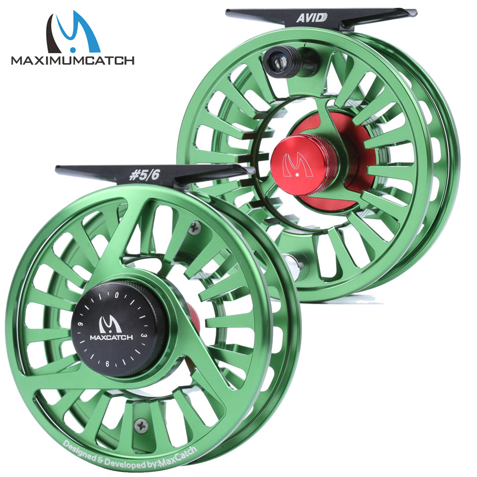 Maximumcatch AVID 1 9WT Обработанная алюминиевая катушка для мушек с микро регулировкой Тяговый светильник, весовая Рыболовная катушка и катушка fly fishing reel extra spoolfly reel   АлиЭкспресс