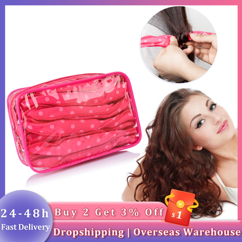 30Pcs/Bag Soft Hair Curlers Silk Roller Without Heat For Sleep Lazy DIY Ribbon Wavy Curly Salon Styling Tools 1