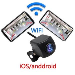 Câmera de visão traseira do carro sem fio wifi invertendo câmera traço cam hd visão noturna mini tacógrafo corpo para iphone e android