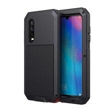 Tam Vücut Vaka Huawei Mate 20 Pro Mate 20 Darbeye Metal Zırh Kapak Için Huawei P30 P30 Pro gorilla cam Telefon Kabuk